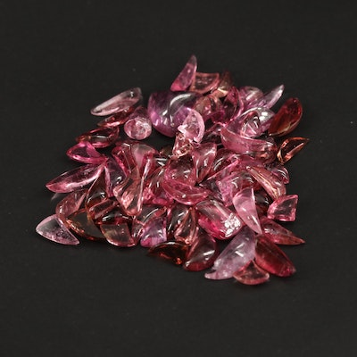 Loose 31.89 CTW Tourmaline Cabochons