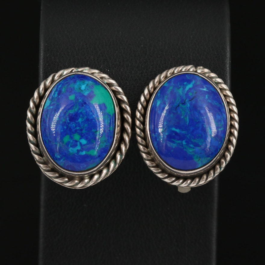 Mexican Sterling Silver Clip-On Earrings