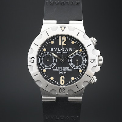 BVLGARI Bulgari Diagono Scuba Chronograph Stainless Steel Automatic Wristwatch
