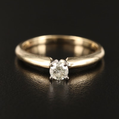 14K 0.29 CT Diamond Solitaire Ring