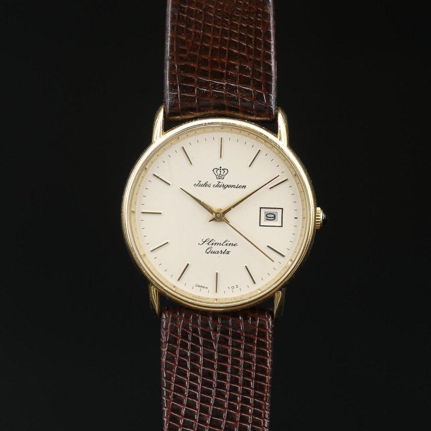 Jules Jurgensen Slimline Quartz Wristwatch with Date