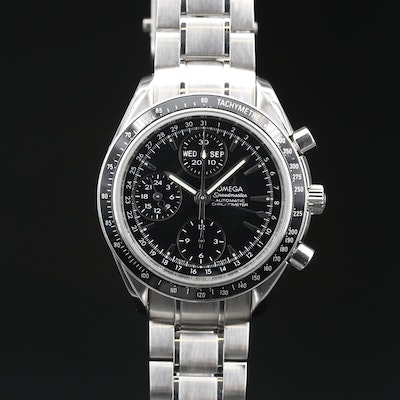 Omega Speedmaster Day-Date Chronograph Stainless Steel Automatic Wristwatch