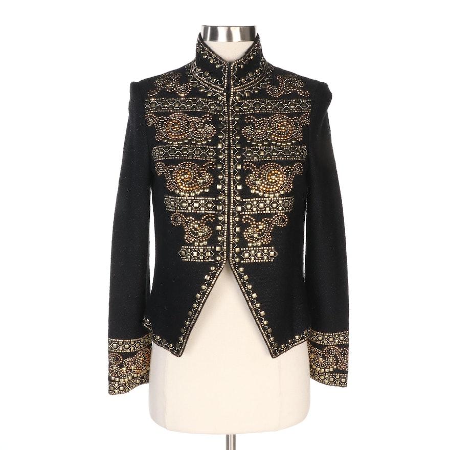 St. John Couture Embellished Black Knit Jacket