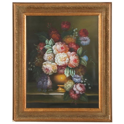 Floral Still Life Oil Painting, 21st Century