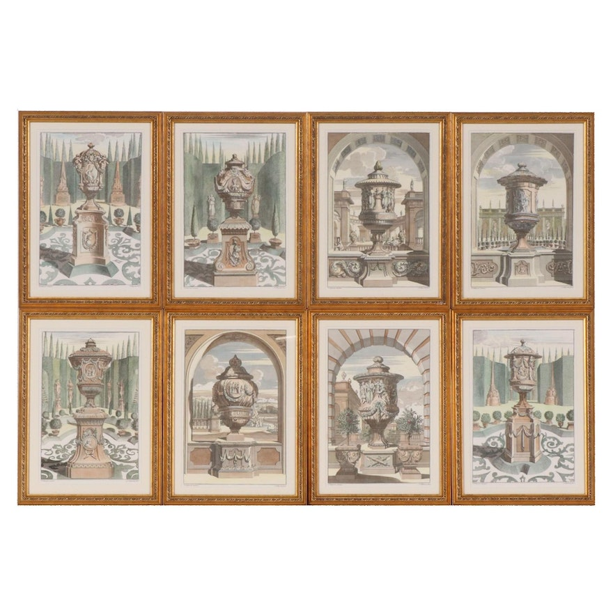 Lithographic Prints after Schijnvoet Engravings of Garden Vases