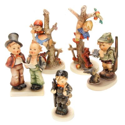 "Goebel ""Chimney Sweep"" and Other Porcelain Hummel Figurines"