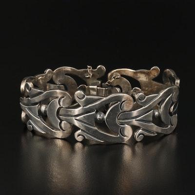 Talleres de Los Ballesteros Sterling Panel Bracelet