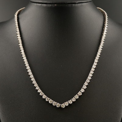 18K 8.29 CTW Diamond Graduated Rivière Necklace