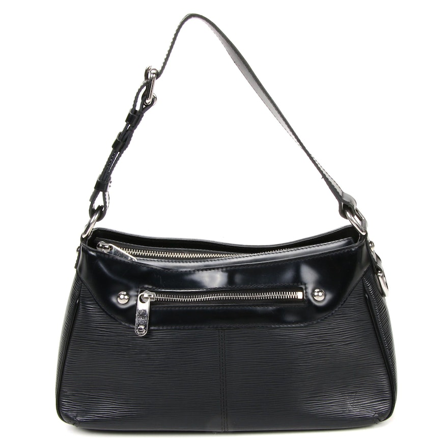 Louis Vuitton Turenne PM Shoulder Bag in Black Epi and Smooth Leather