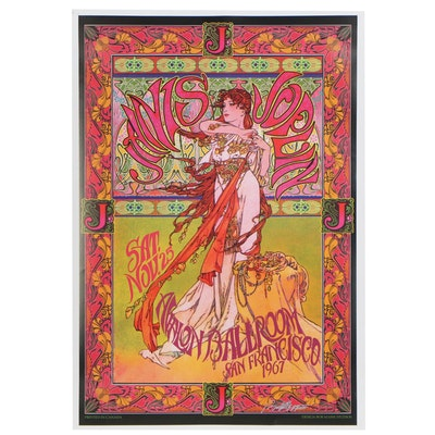 "Bob Masse Concert Poster ""Janis Joplin at the Avalon Ballroom, 1967"""