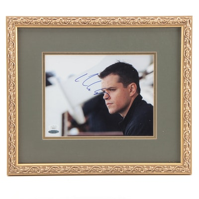 Autographed Matt Damon Photo Print