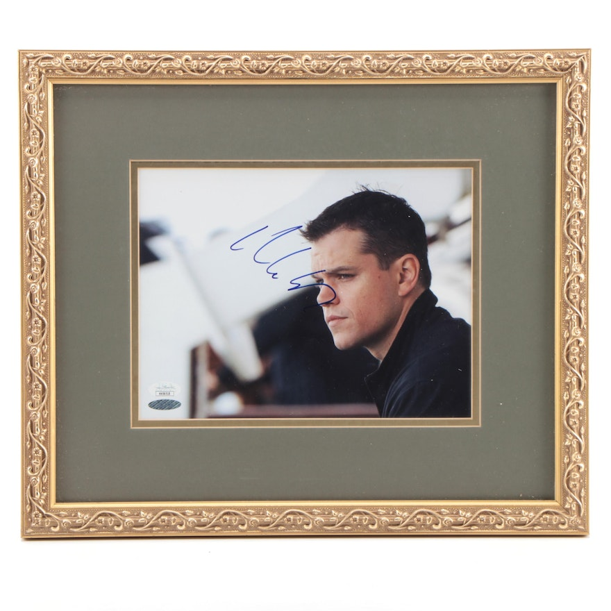Autographed Matt Damon Photo Print