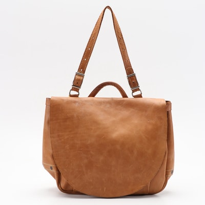 Nicholas Tan Leather Two-Way Briefcase