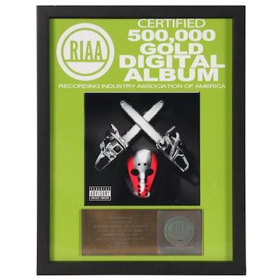 """RIAA Gold Album Award to Jonathan Hay, Publicist on """"Shady XV"""""""