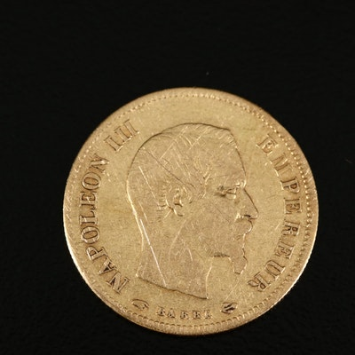 1858-A France 10 Francs Gold Coin