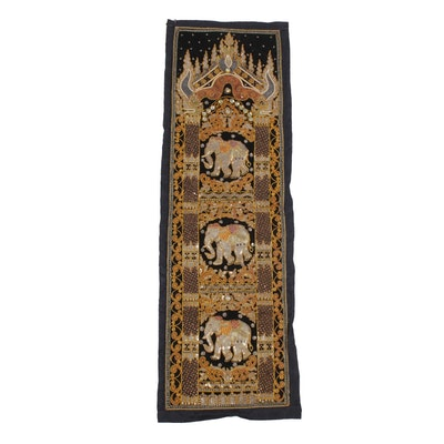Hand-Embroidered Burmese Kalaga, 20th Century