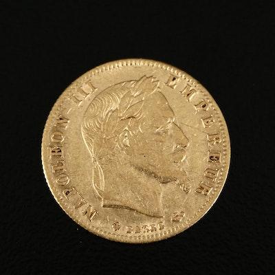 1866-B France 5 Francs Gold Coin