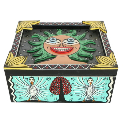 "Michael Finster Folk Art Wooden Box ""Image Box"", 1994"