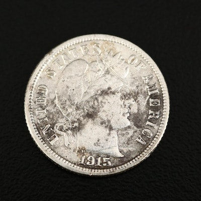 Low Mintage 1915-S Barber Silver Dime