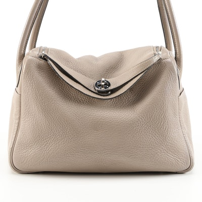 Hermès Lindy 26 Bag in Taupe Clemence Leather