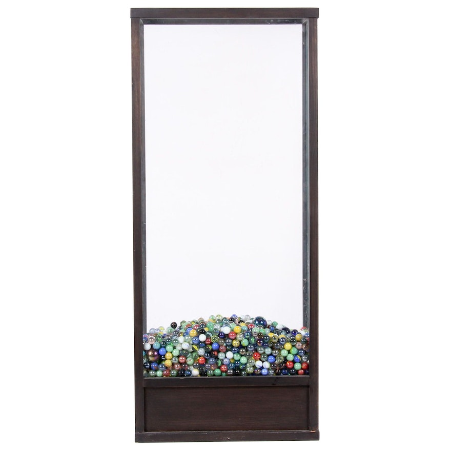 Terrarium Display Cabinet with Marble Collection