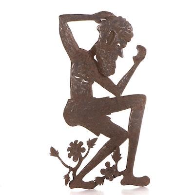 Gabriel Bien-Aime Haitian Metal Art Sculpture of a Man