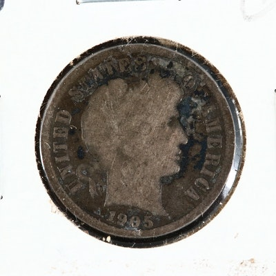 "Key Date 1905-O Barber Silver Dime, ""Micro O"" Variety"