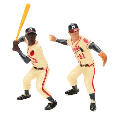 Hartland Plastics Hank Aaron and Eddie Mathews Figurines