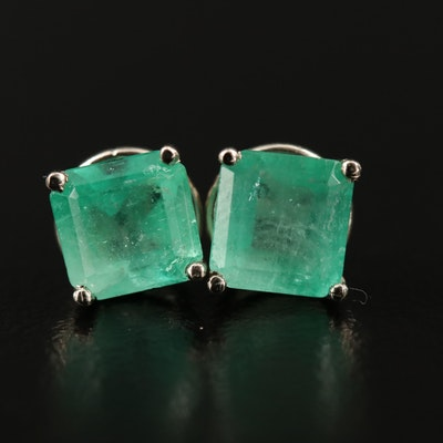 14K Emerald Stud Earrings