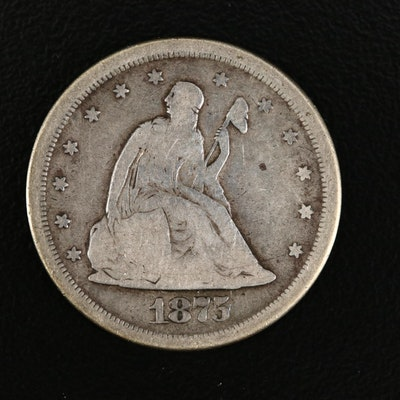 1875-S Liberty Seated 20-Cent Silver Coin