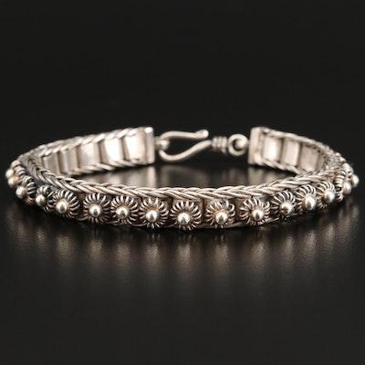 Sterling Cannetille Link Bracelet