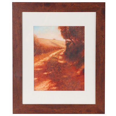 Landscape Oil Painting of Country Road
