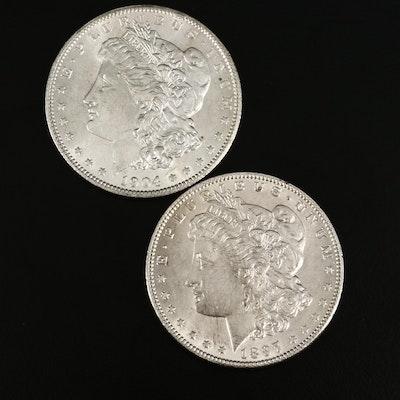 1897 and 1904-O Morgan Silver Dollars