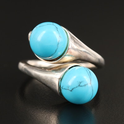 Sterling Turquoise Bypass Ring