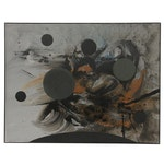 """Joan-Josep Tharrats Tachism Oil Painting """"El Misteri de les Set Estrelles"""", 1962"""