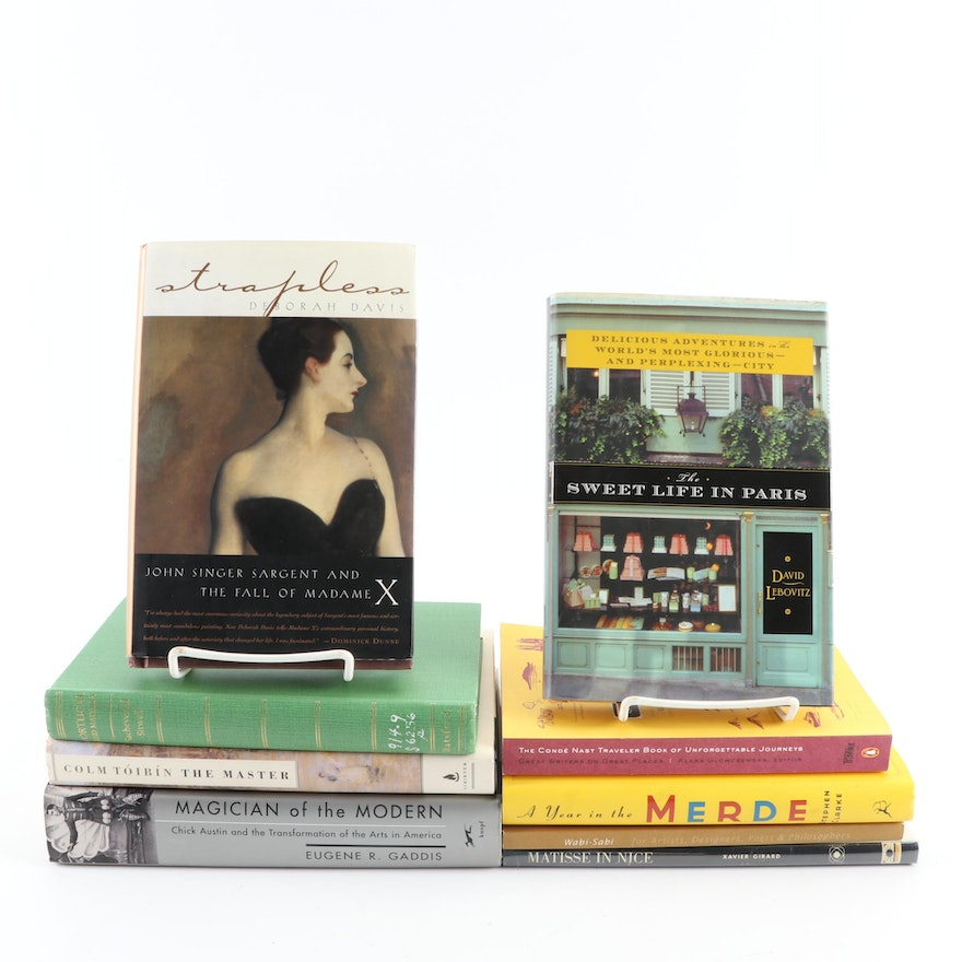 """Nonfiction and Fiction Books Including First Edition """"Strapless"""" and Others"""