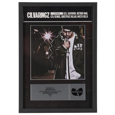 "Babygrande Records Award to Publicist Jonathan Hay, for Cilvaringz Album ""I"""
