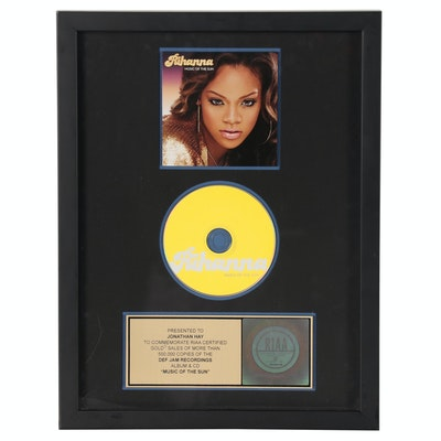 "RIAA Gold Album Award to Jonathan Hay, Publicist, Rihanna's ""Music of the Sun"""