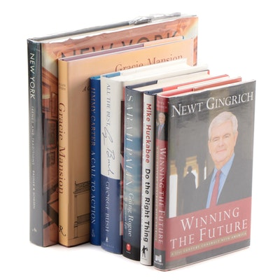 Signed Political Biographies Including George H. W. Bush, Jimmy Carter, and More