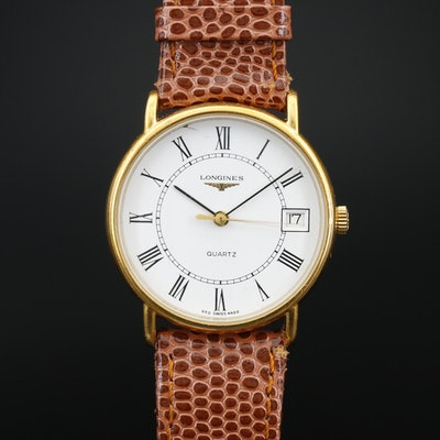 Longines Date Quartz Wristwatch