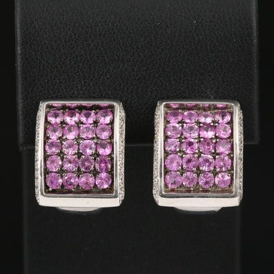Zoccai 18K Sapphire and Diamond Rectangular Earrings