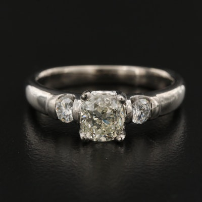 Scott Kay Platinum 1.38 CTW Diamond Three Stone Ring