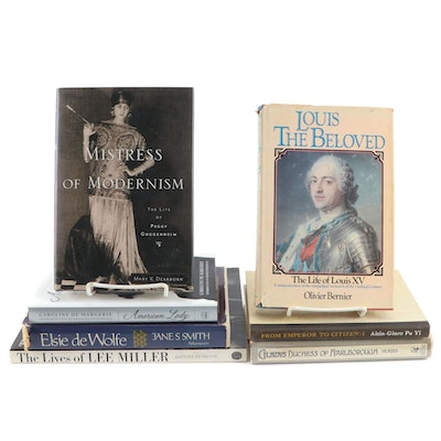 Royalty and Socialite Biographies Including Louis XV and Peggy Guggenheim