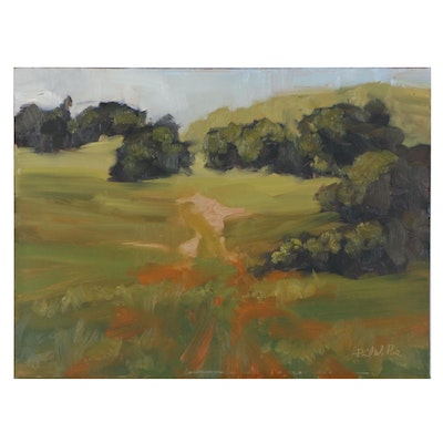 David W. Poe Abstract Landscape Oil Painting, 21st Century