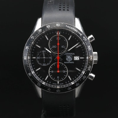 TAG Heuer Carrera Automatic Stainless Steel Chronograph Wristwatch