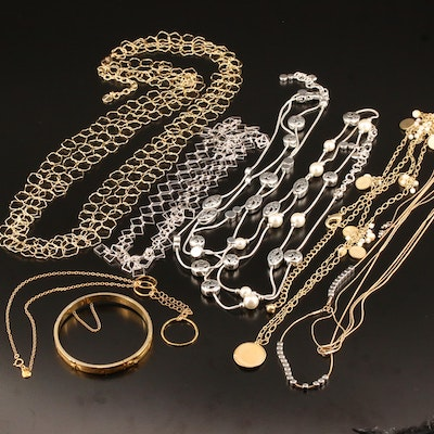 Necklaces and Bracelet Featuring Brighton and Gold Filled Jewelry