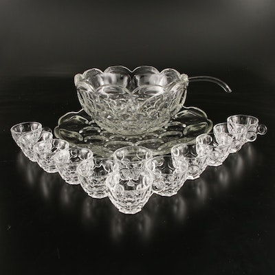 "Heisey Glass ""Whirlpool"" Punch Bowl Set, 1938–1957"