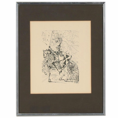 """Salvador Dalí Second Edition Restrike Etching """"El Cid"""", Mid to Late 20th Century"""