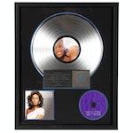 """Whitney Houston """"I Look to You"""" Publicity Platinum Award"""