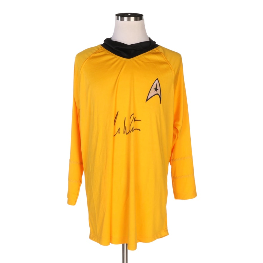 William Shatner Autographed Replica Star Trek Shirt COA